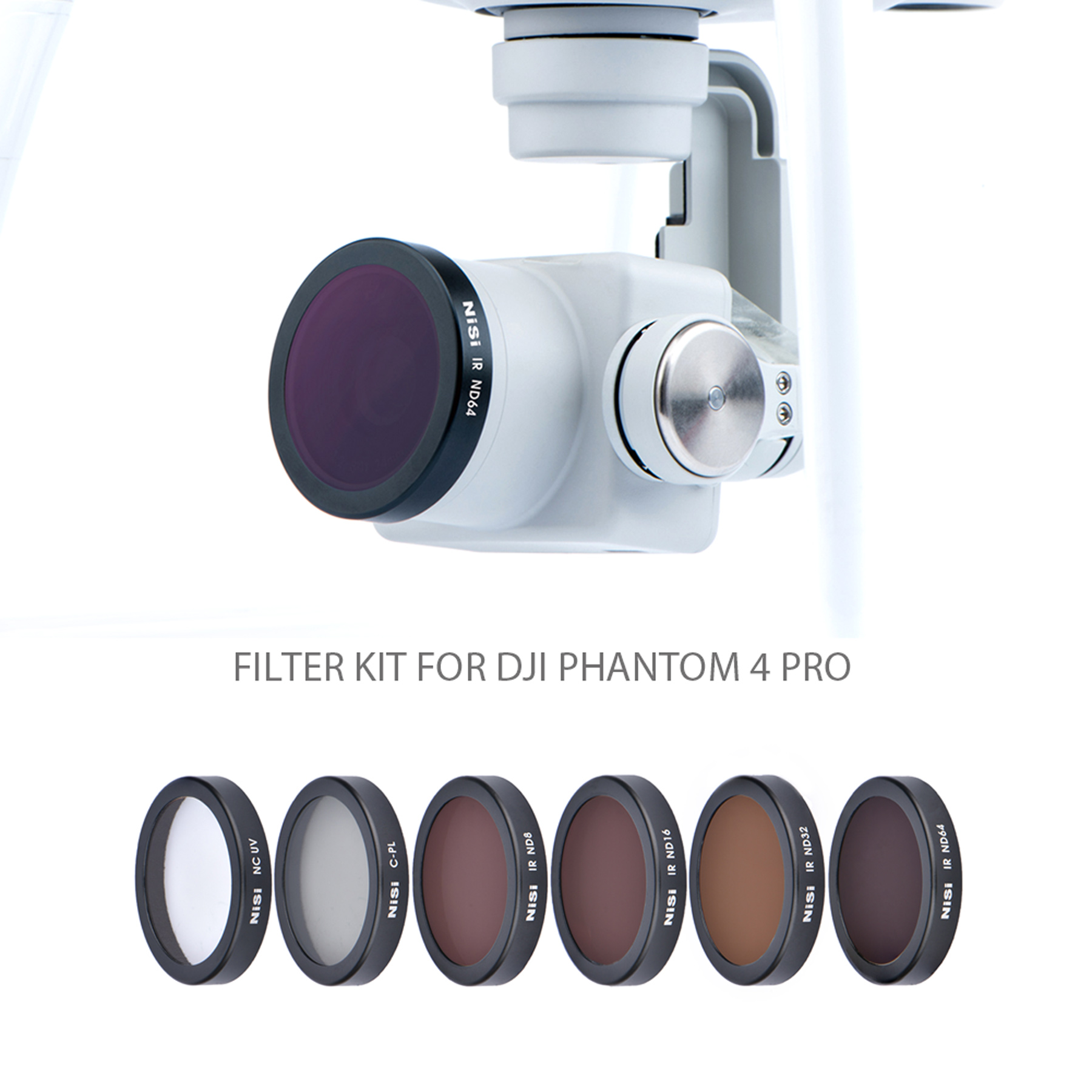 for MOBILEACCESSORIES TL HD Drone Grey ND Lens Filter for DJI Phantom 4 Pro Sports Camera Color : Color5